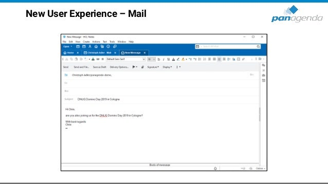 New User Experience – Mail (cont.)