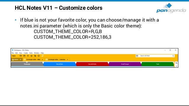HCL Notes V11 – Customize colors (cont.)