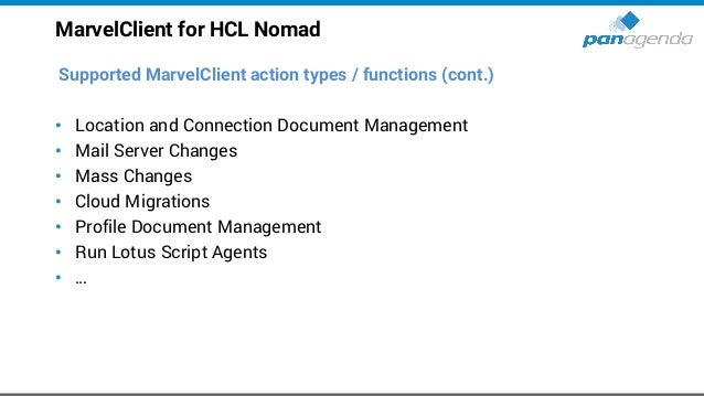 Make Your Data Work For You Marvel Client for HCL Nomad Live demo