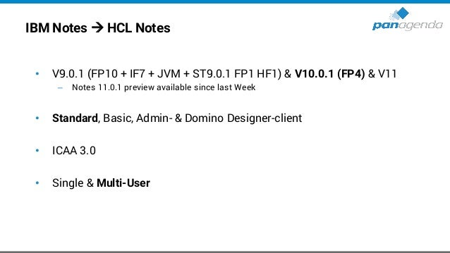 IBM Notes – Directories (9.0.1 & 10.0.1) → old • Program directory C:Program Files(x86)IBMNotes • Shared data directory C:...