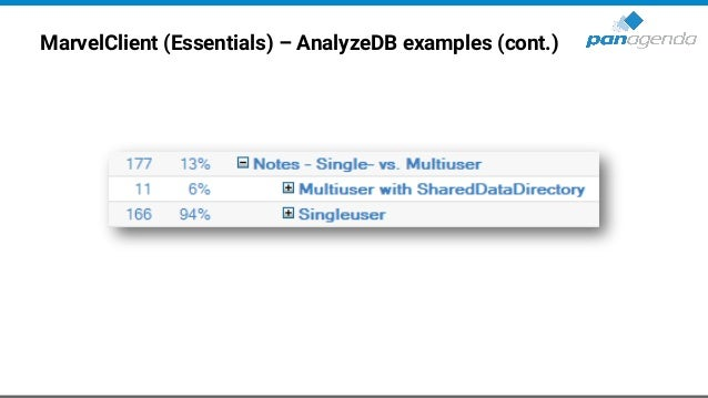 MarvelClient (Essentials) – AnalyzeDB examples (cont.)