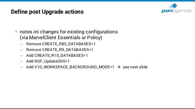 Notes 10.x / 11.x – Workspace • This will be controlled by a notes.ini parameter: V10_WORKSPACE_BACKGROUND_MODE=0 → defaul...
