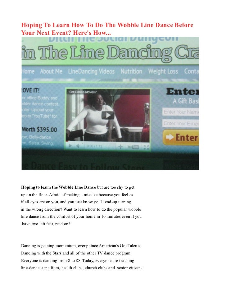 Hoping To Learn How To Do The Wobble Line Dance BeforeYour Next Event? Heres How...Hoping to learn the Wobble Line Dance b...