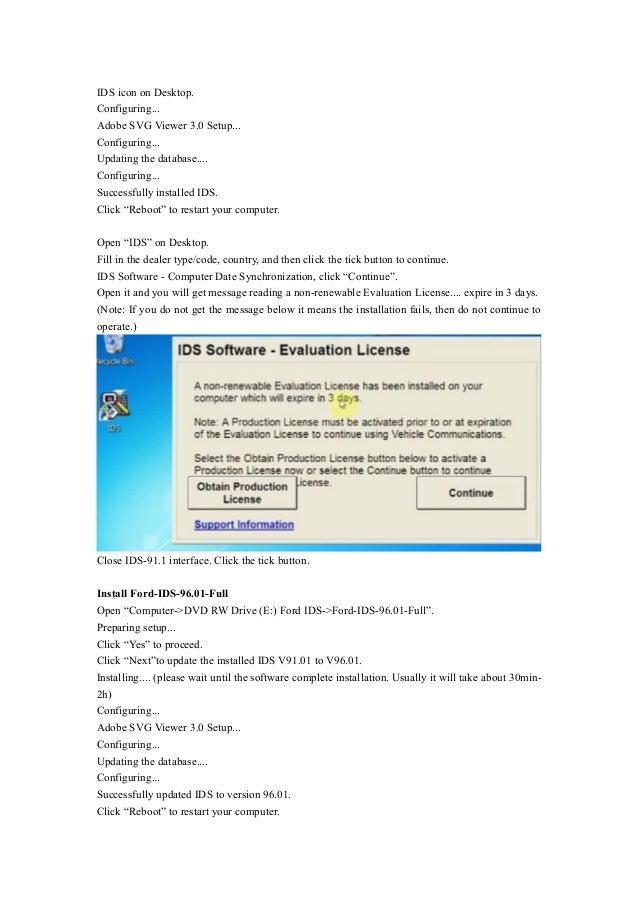 Wobd2 install vixdiag ford ids v96 in windows7