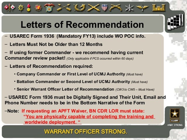 Wo brief 2013new letters of recommendation usarec form spiritdancerdesigns Images