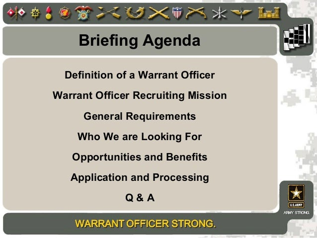 ... 3. Definition Of A Warrant Officer Warrant Officer Recruiting ...