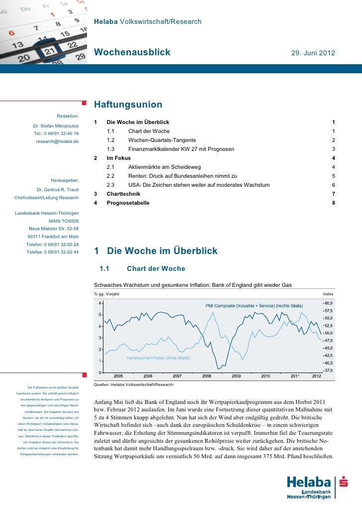 Helaba Volkswirtschaft/Research                                                   Wochenausblick                          ...