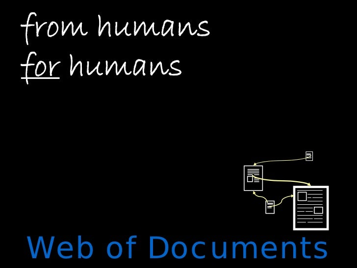 from humans for humans     Web of Documents