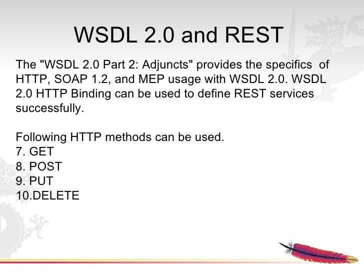 WSDL 2 0 and REST The