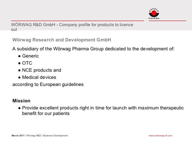 WÖRWAG R&D GmbH - Company profile for products to licenceoutWörwag Research and Development GmbHA subsidiary of the Wörwag...