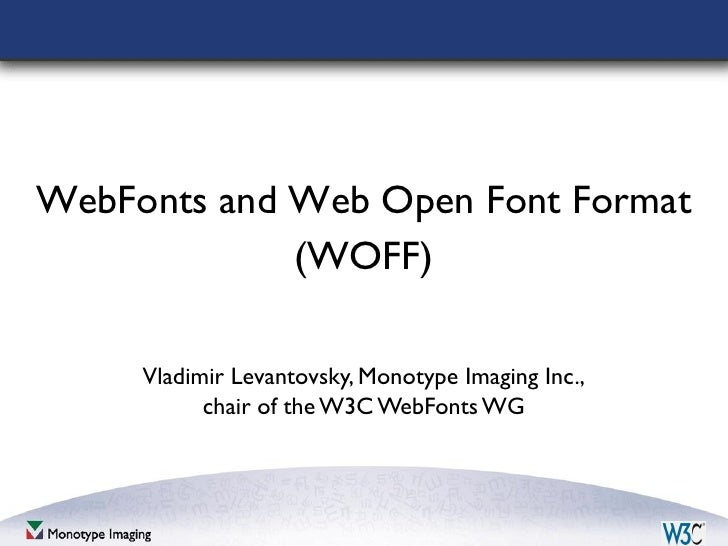 WOFF and emerging technology of web fonts