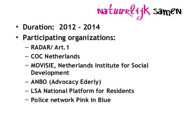 GSA Safe Neighbourhoods. Slide 2