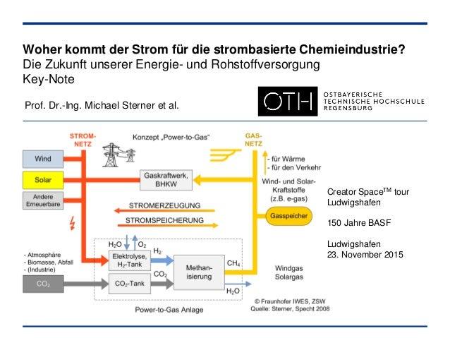 Woher kommt der Strom für die strombasierte Chemieindustrie? Die Zukunft unserer Energie- und Rohstoffversorgung Key-Note ...