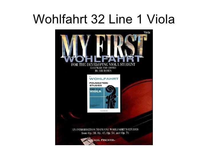 Wohlfahrt 32 Line 1 Viola