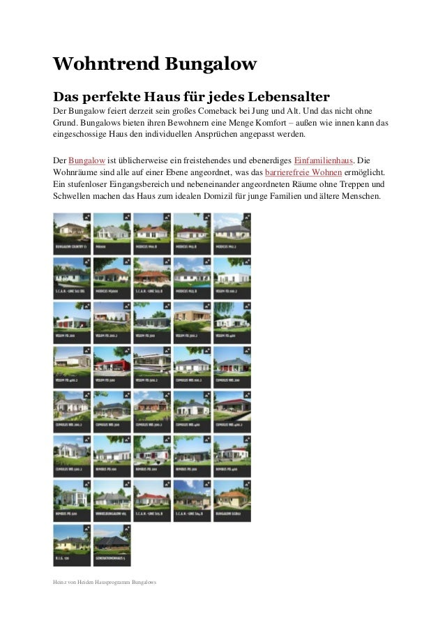 Wohntrend Bungalow Das perfekte Haus für jedes Lebensalter Der Bungalow feiert derzeit sein großes Comeback bei Jung und A...