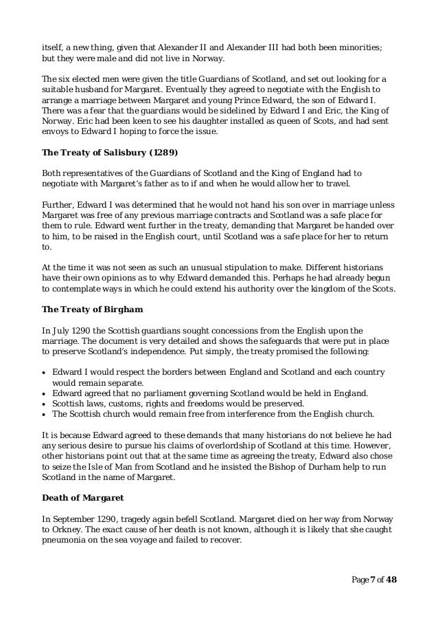 higher history revision notes   scottish wars of independence a minority ruler was not in