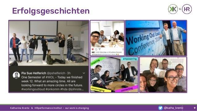 Erfolgsgeschichten Katharina Krentz & HRperformance Institut · our work is changing 9@katha_krentz