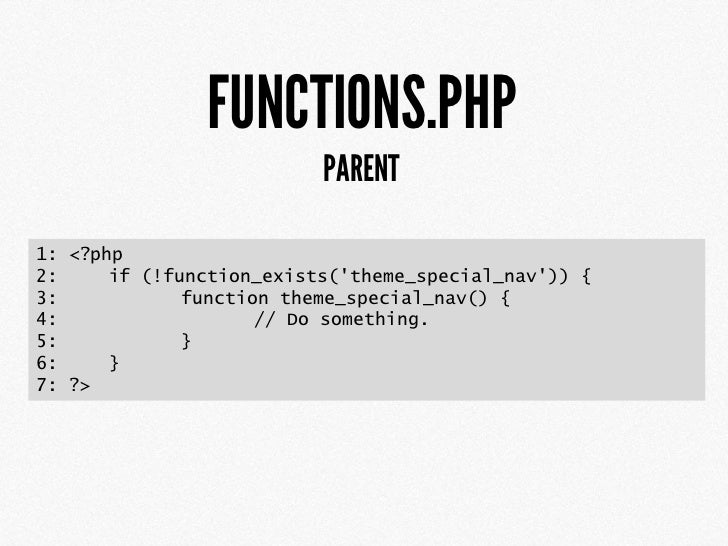 FUNCTIONS.PHP1: <?php2:3: function childtheme_create_stylesheet() {4:        $templatedir = get_bloginfo(template_director...