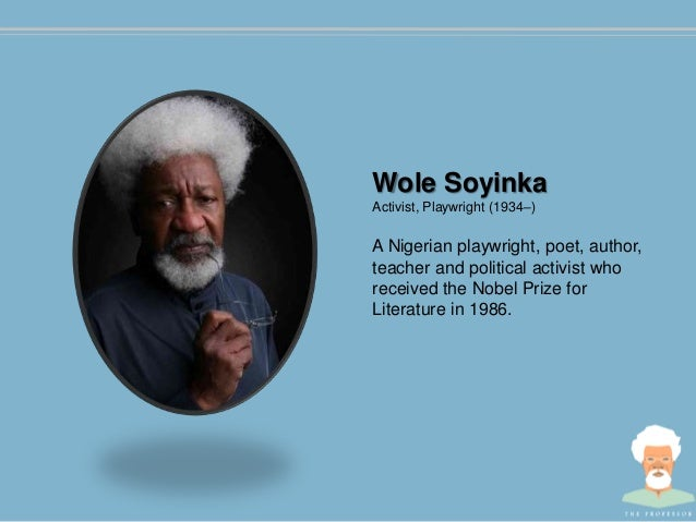 biography of wale soyinka