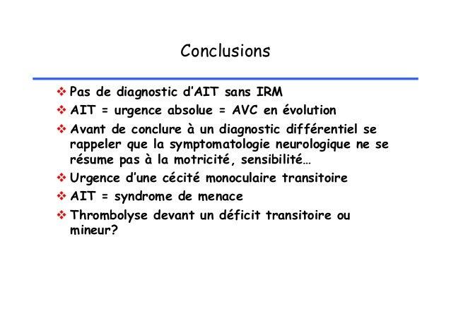 Sémiologie des AIT (3)