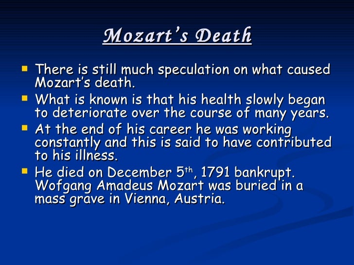 Death of Wolfgang Amadeus Mozart