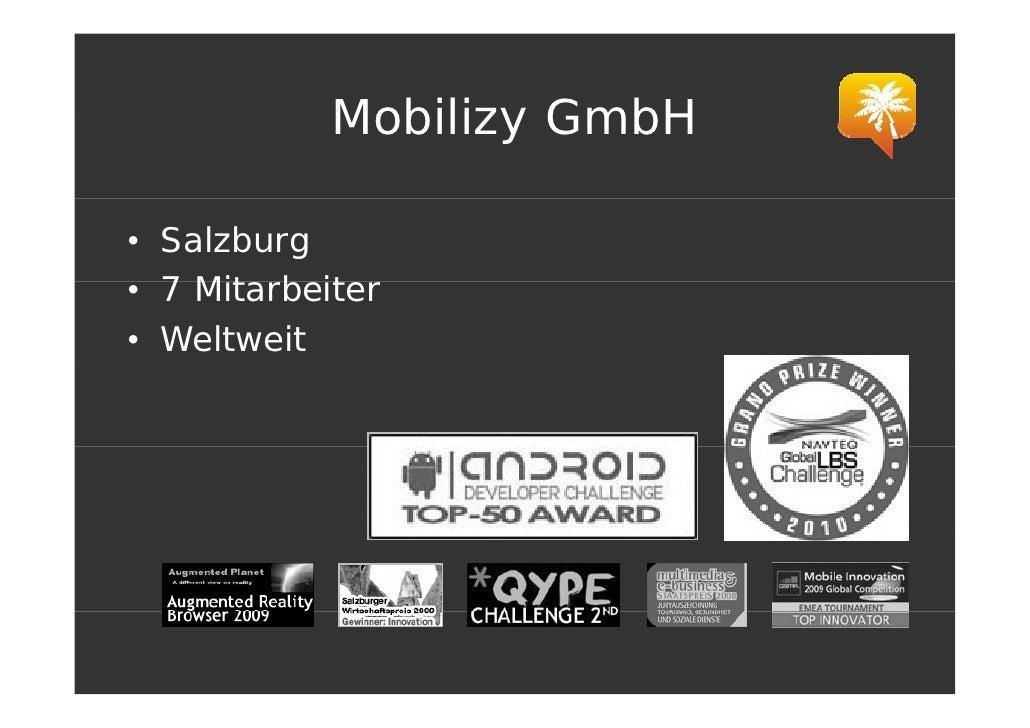 Mobilizy GmbH  • Salzburg • 7 Mit b it     Mitarbeiter • Weltweit