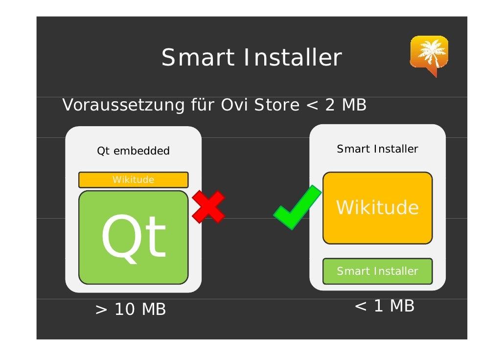 Smart Installer Voraussetzung für Ovi Store < 2 MB     Qt embedded                Smart Installer       Wikitude          ...
