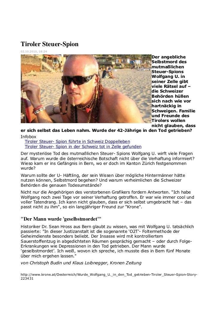 Tiroler Steuer-Spion02.10.2010, 18:24                                                        Der angebliche               ...