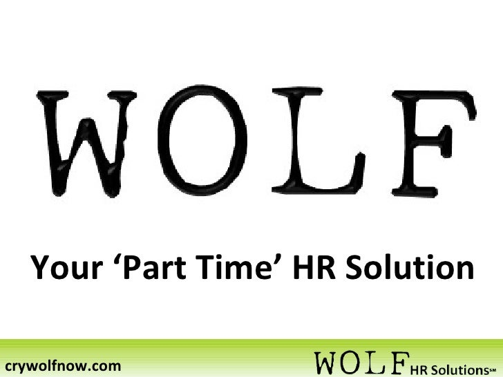 Your 'Part Time' HR Solution