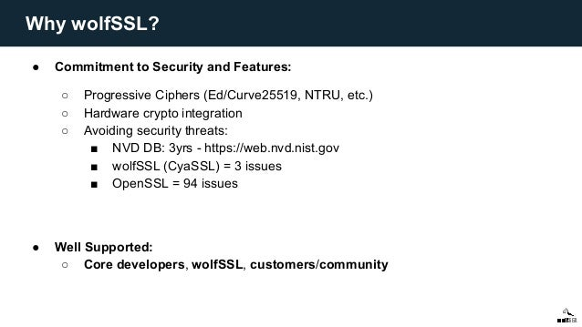 wolfSSL and TLS 1 3