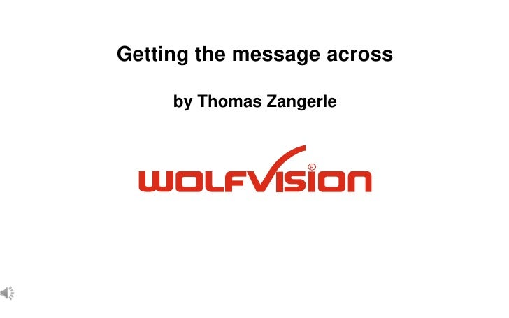 Getting the message acrossby Thomas Zangerle<br />