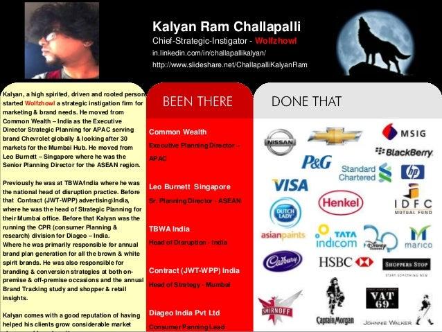 Kalyan Ram Challapalli                                                  Chief-Strategic-Instigator - Wolfzhowl            ...