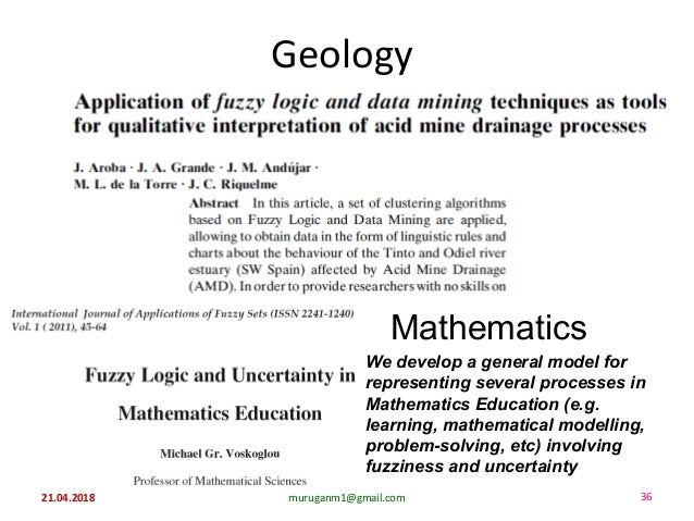 Geology Mathematics We develop a general model for representing several processes in Mathematics Education (e.g. learning,...