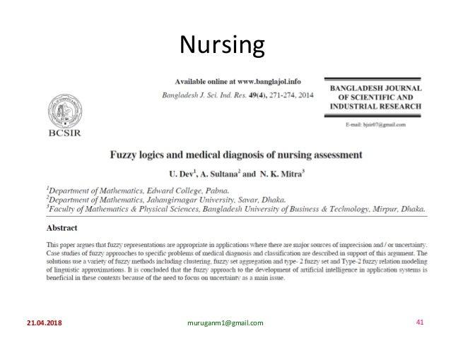 Nursing 21.04.2018 41muruganm1@gmail.com