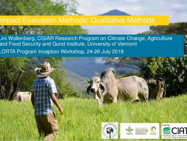 Lini Wollenberg, CGIAR Research Program on Climate Change, Agriculture and Food Security and Gund Institute, University of...