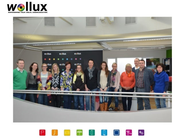 Company • Wollux is specialised in visual communication • some products: flags, banners, roll up displays, parasols, tents...