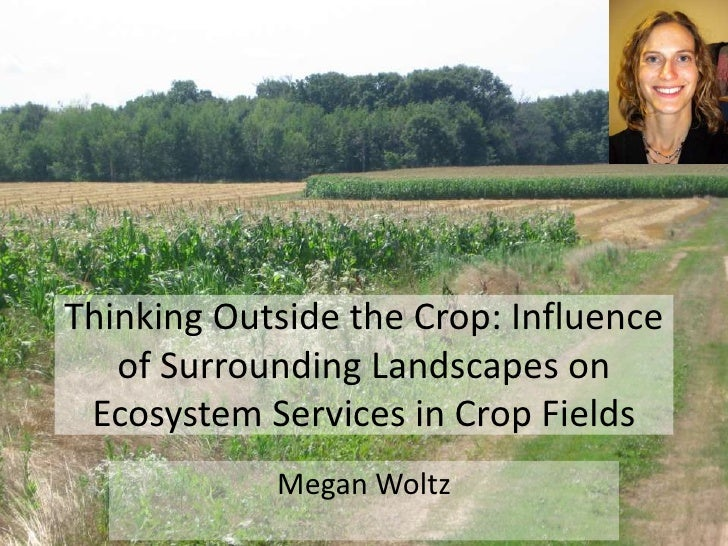 Thinking Outside the Crop: Influence   of Surrounding Landscapes on Ecosystem Services in Crop Fields            Megan Woltz