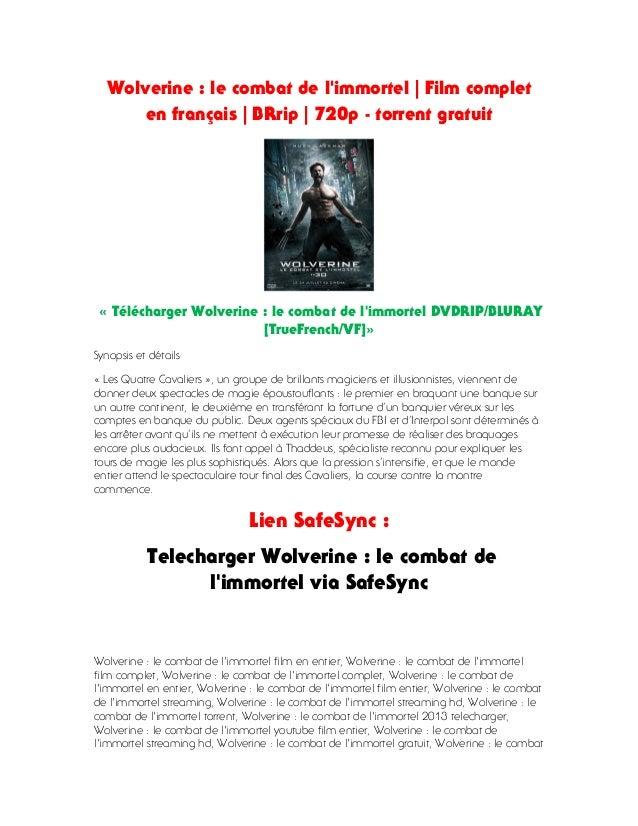 wolverine le combat de limmortel dvdrip french