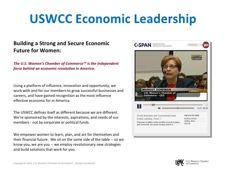 USWCC Economic Leadership <ul><li>Building a Strong and Secure Economic Future for Women: </li></ul><ul><li>The U.S. Women...