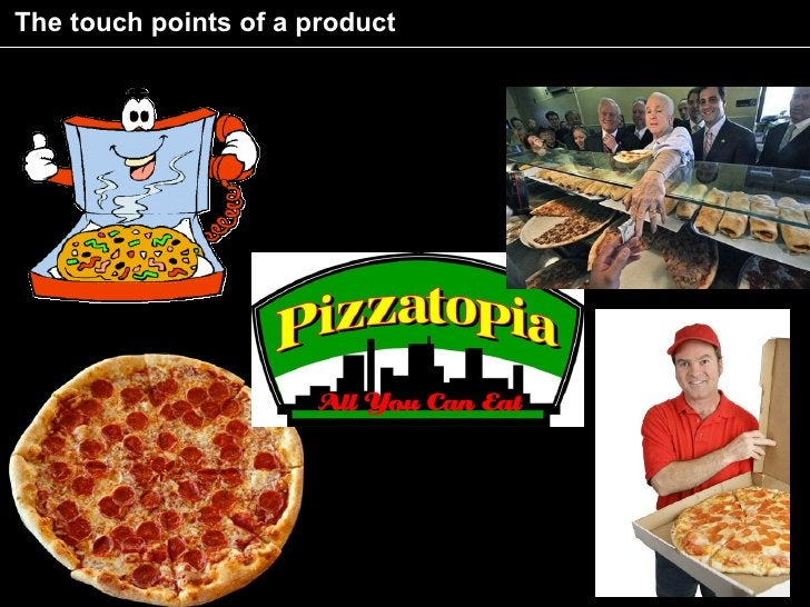 The touch points of a product