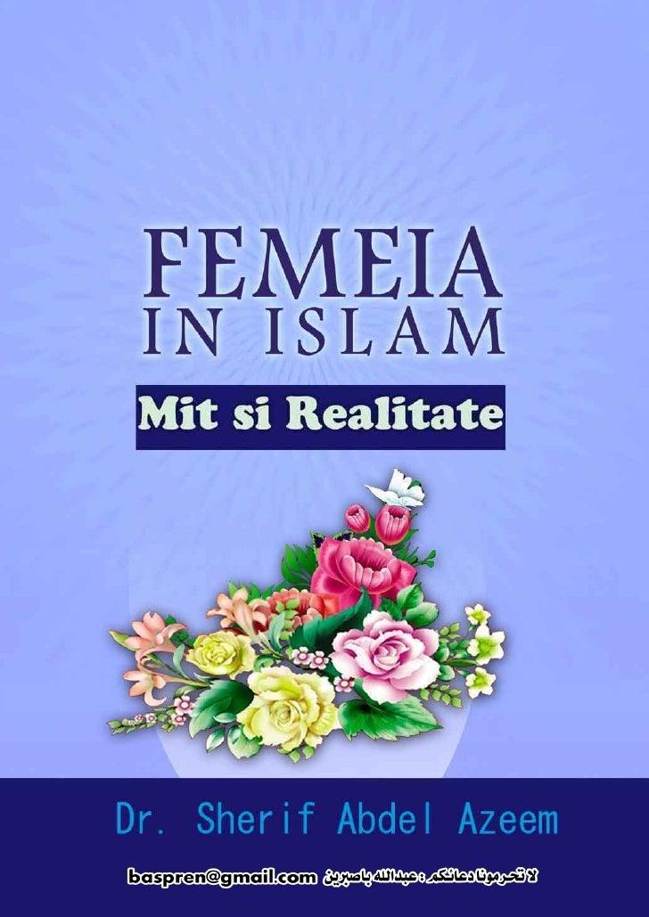1      FEMEIA IN ISLAM                              CUPRINS  1) Introducere                                2 2) Greseala E...