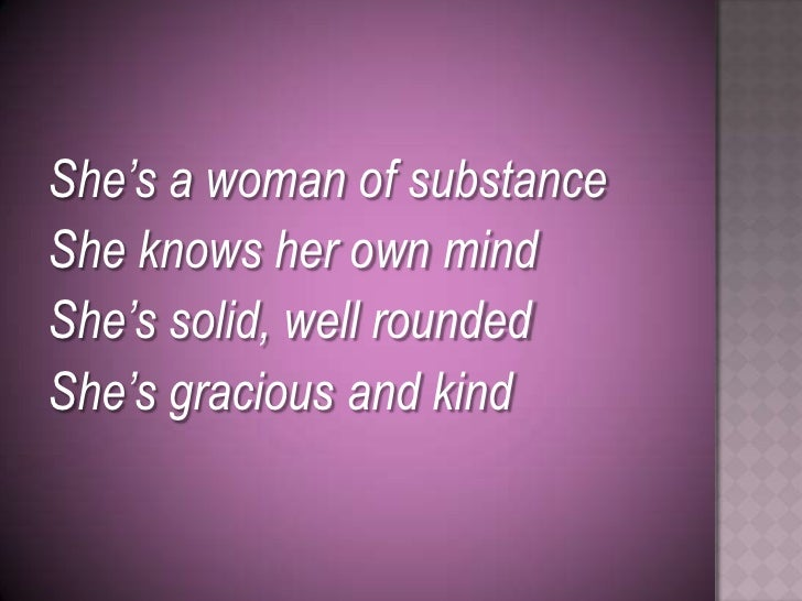 A woman of substance 9