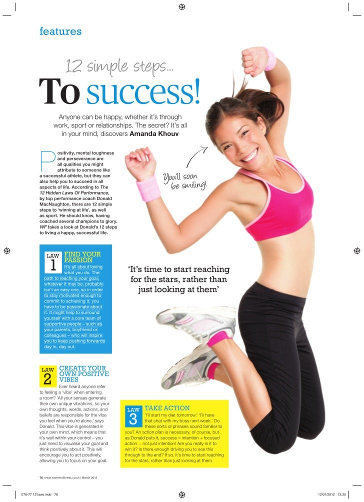 The 12 Hidden Laws of Performance, Womans Fitness March 2012 edition