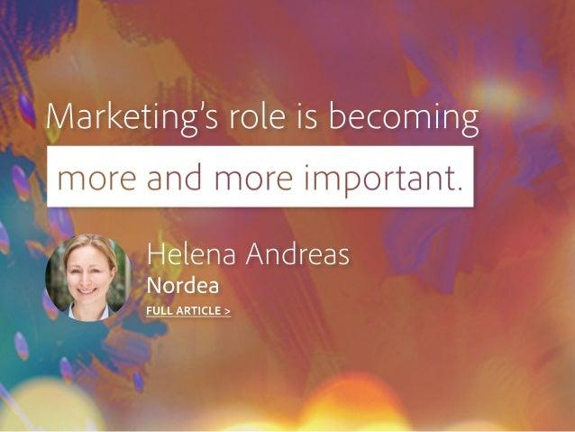 Marketing'sroleisbecoming