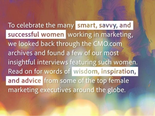A Celebration Of Women In Marketing Slide 3