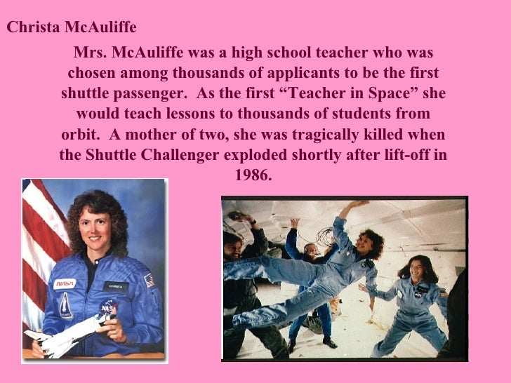 Image result for the first school teacher in space.
