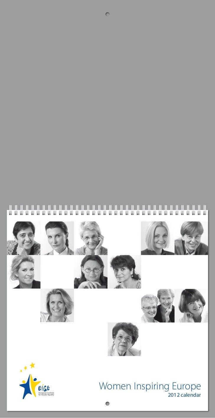 Women Inspiring Europe              2012 calendar
