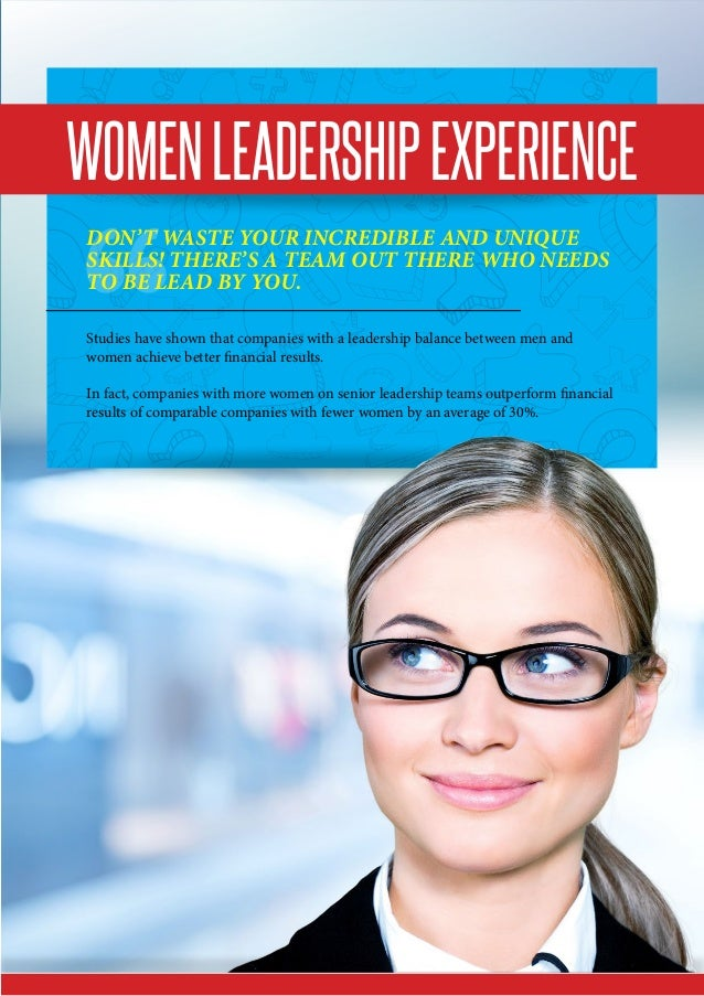 WomenLeadershipExperience Don't waste your incredible and unique skills! There's a team out there who needs to be lead by ...