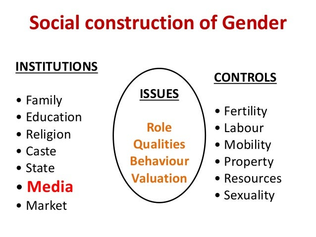 Gender roles and sexuality in the media