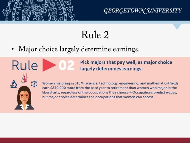 Rule 2 • Major choice largely determine earnings.